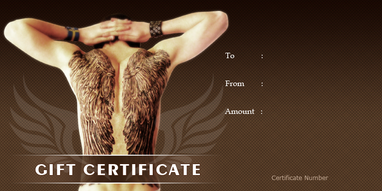 Tatoo Gift Certificate Template