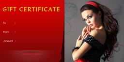 Hair Salon Gift Certificate Template